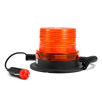 Проблесковый маяк оранжевый 10 Ватт стробоскоп 12-24 вольт